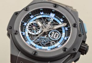 The special copy Hublot King Power Maradona Men's Watches 716.CI.1129.RX.DMA11 watches have skeleton dials.