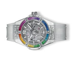 The well-designed copy Hublot Big Bang One Click 465.JX.4802.RT.4099 watches have skeleton dials.