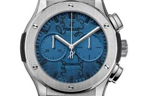 The 45 mm replica Hublot Classic Fusion 521.NX.050B.VR.BER18 watches have blue dials.