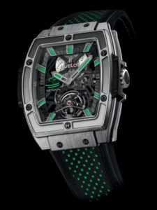 The copy Hublot Masterpiece 906.NX.0129.VR.AES13 watches with green elements will bring you energy.