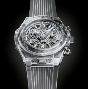 The 45 mm replica Hublot Big Bang 411.JX.4802.RT watches ahave skeleton dials.