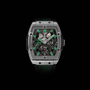 The sturdy fake Hublot Masterpiece 906.NX.0129.VR.AES13 watches have titanium and have black rubber straps.