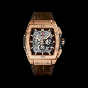 The 45 mm copy Hublot Spirit Of Big Bang 601.OX.0183.LR watches have skeleton dials.