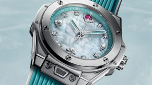 The 39 mm copy Hublot Big Bang One Click Chen Man 465.SE.6070.RW.CHM17 watches have beautiful dials with diamonds.