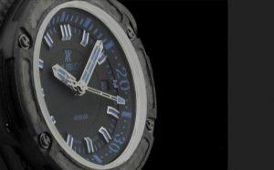 The 48 mm replica Hublot King Power 731.QX.1190.GR.ABB12 watches have black dials.