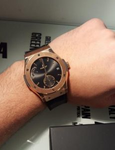 The well-designed fake Hublot Classic Fusion 516.OX.1480.LR watches are designed for males.