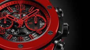 The 45 mm fake Hublot Big Bang 411.CF.8513.RX watches have skeleton dials.
