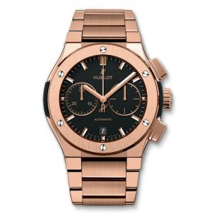 The luxury copy Hublot Classic Fusion 520.OX.1180.OX watches are made from 18k gold.