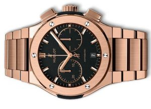 The 45 mm fake Hublot Classic Fusion 520.OX.1180.OX watches have black dials.