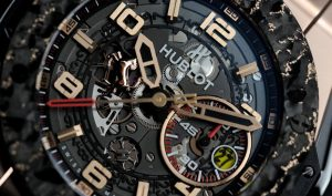 The cool copy Hublot Big Bang Ferrari watches have skeleton dials.
