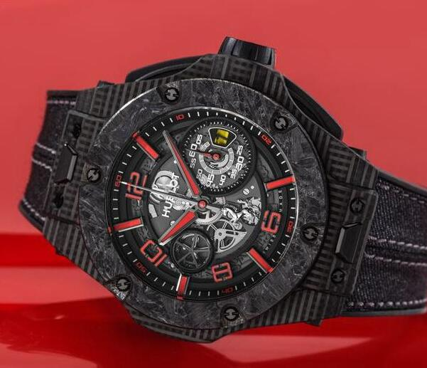The tone of this Hublot Big Bang is in line with the Ferrari.