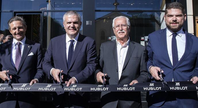 Hublot creates a special edition to celebrate the open of the Hublot store.