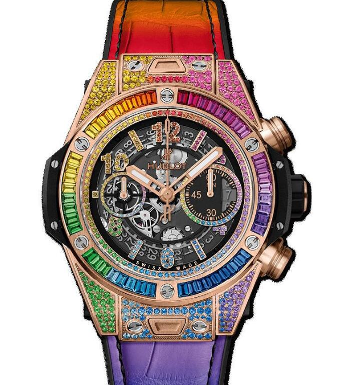 The overall design of this Hublot Big Bang Unico is romantic and dreamlike.