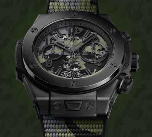 This new fake Hublot interprets the concept of the famous Swiss watch brand and Yohji Yamamoto.
