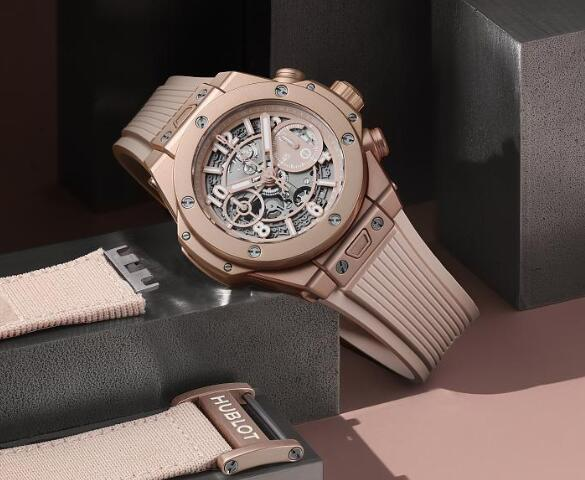 The millennium pink of best copy Hublot looks noble and special.